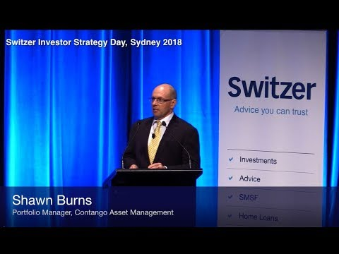 Shawn Burns speaking at the Switzer Investor Strategy Day 2018