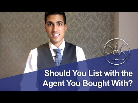 Toronto Real Estate: Should You List with the Agent You Bought With?