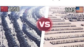 Soviet Union (1990)vs USA (2019) Military Power Comparison ||By world military channel