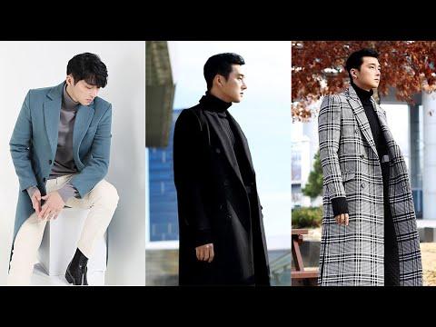 Gợi Ý Áo Khoác Dạ Manto Nam Đẹp Như Các Tài Tử Hàn Quốc - Men's Korean Long Trench Wool Felt Coats