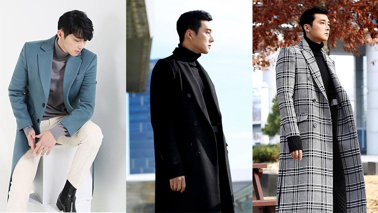 Gợi Ý Áo Khoác Dạ Manto Nam Đẹp Như Các Tài Tử Hàn Quốc – Men's Korean Long Trench Wool Felt Coats