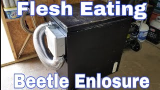 (Flesh Eating Beetles) How To Make a Dermestid Beetle Enclosure(Cage) using a Chest Freezer