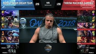 Download Meme Stream Dream Team vs Throw Machine Gaming | Streamer Show Match at S8 NA LCS 2018 Summer Finals Mp3 and Videos
