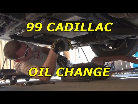 1999 Cadillac Deville Oil Change How to