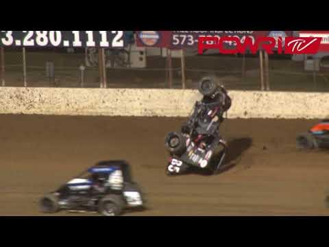 9/2/18 POWRi Lucas Oil National Midget League Highlights at Lake Ozark Speedway