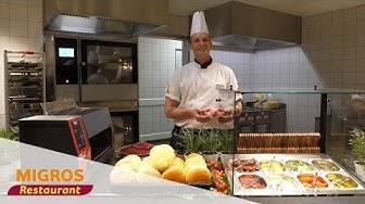 Burger zusammenstellen im neuen Migros-Restaurant Surseepark