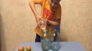Самый простой Фокус и его секрет. Как показать фокус ребенку?Саша делает фокус с яйцами и водой
