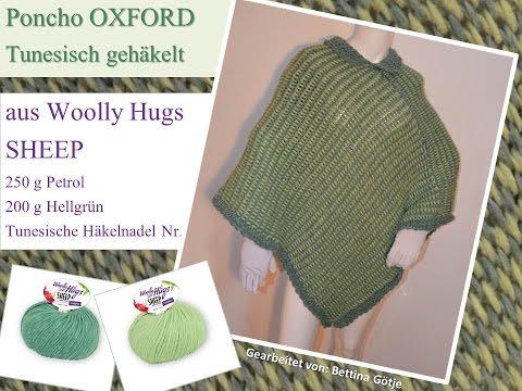 Poncho Oxford Woolly Hugs Sheep Tunesisch Häkeln Mit Veronika Hug