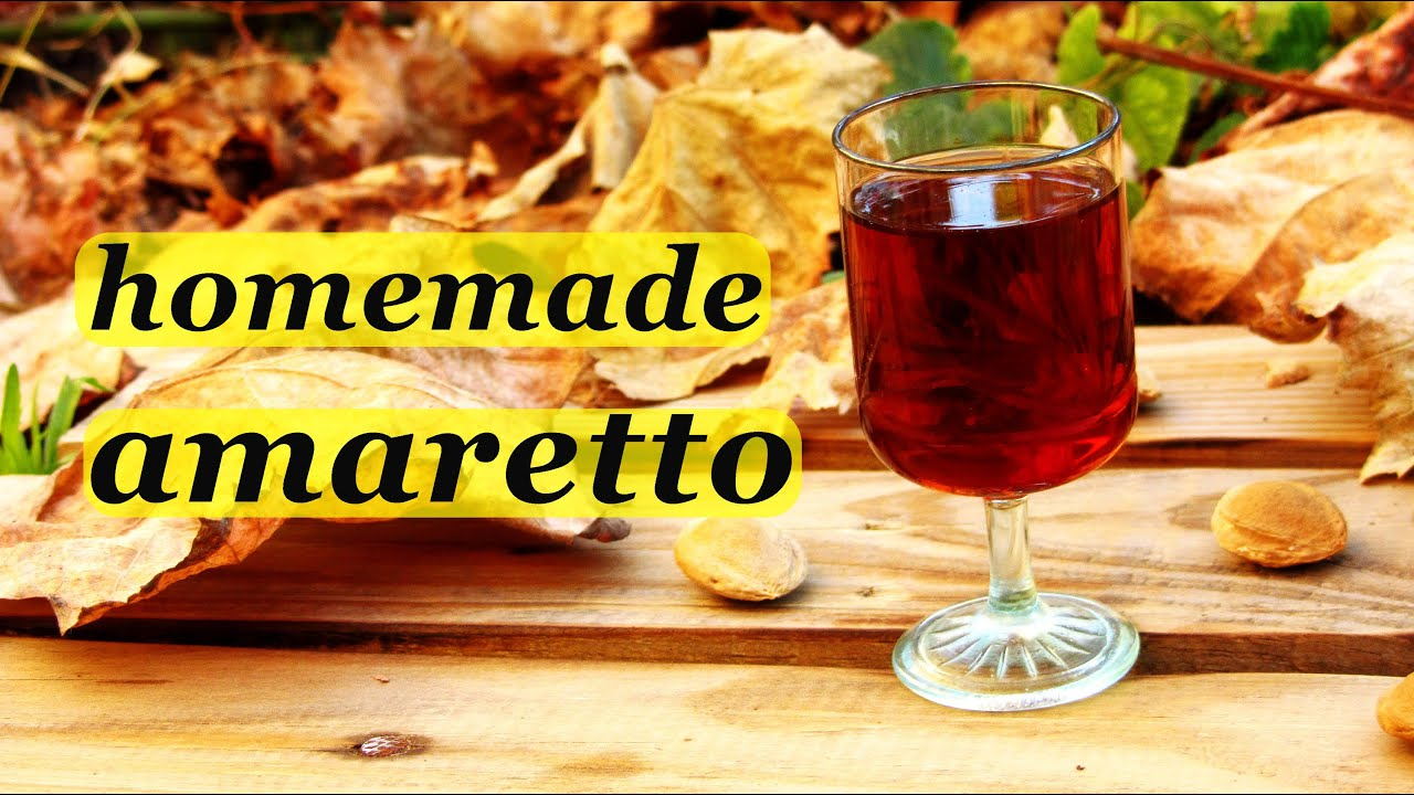 How to make Amaretto liqueur, recipes of homemade liqueur - YouTube