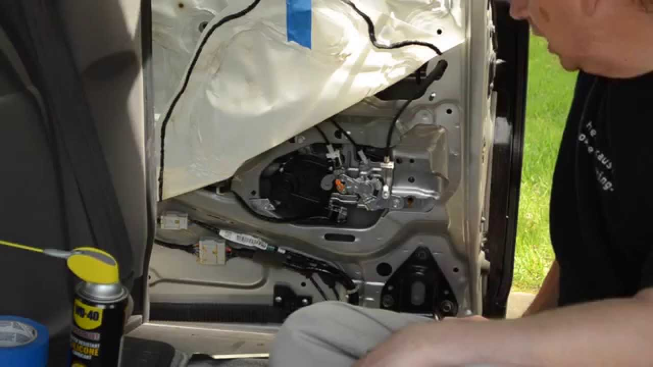 Honda Odyssey Sliding Door Repair Actuator Assembly Lubrication Repair Youtube