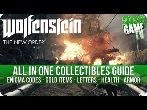 Wolfenstein The New Order - All Collectibles Guide (Enigma Codes, Gold Items, Letters, Health,Armor)