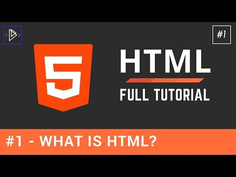 #1 - What Is HTML Used For? - HTML Full Tutorial For Beginners