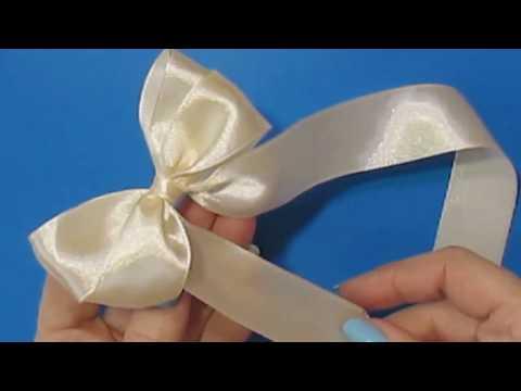 Как завязать бантик из ленточки на волосах