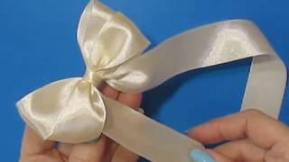 супер_быстрый Бант из Ленты своими руками/ribbon hair bow/как сделать завязать красивый бант