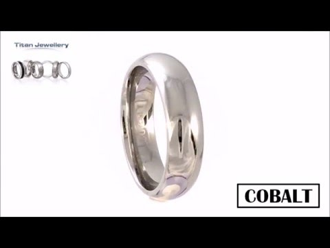 Mens 7mm Polished Court Cobalt Wedding Ring CCR07