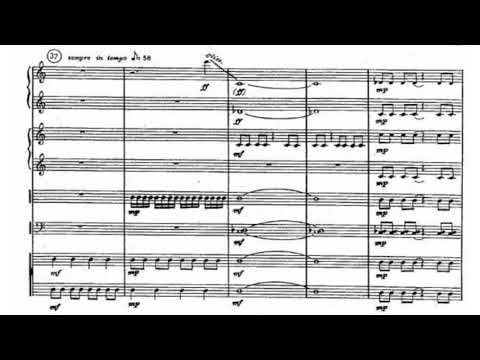 Carlos Chávez - Toccata for Percussion Instruments (Score video)