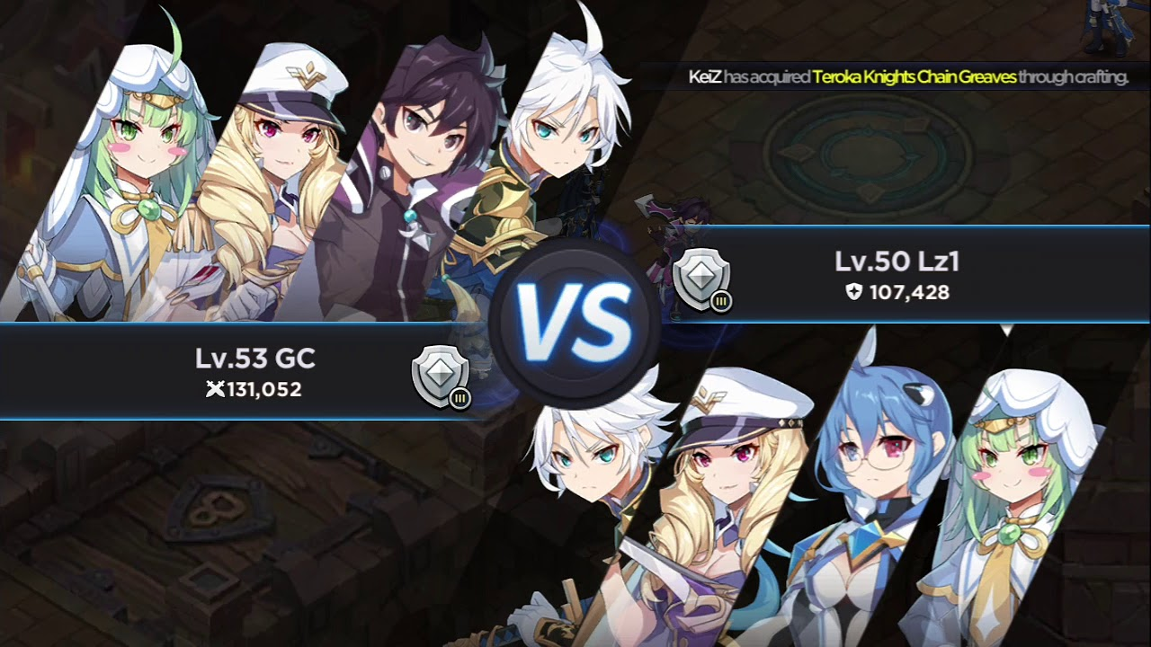 GrandChase Dimensional Chaser Lass and Sieghart PVP Gameplay