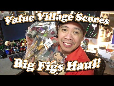 Thrift Store Toy Haul, Value Village Big Figs Haul February 8 2018