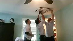 LBA Ductless Air Conditioning Installation into Ceiling