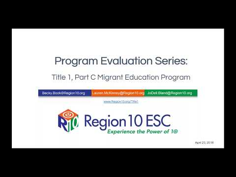 Program Evaluation Series: Title 1, Part C Migrant Education Program