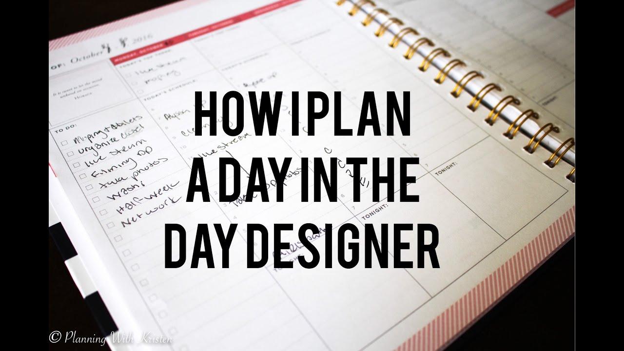 image relating to Day Designer Planners called Program with Me The Working day Designer