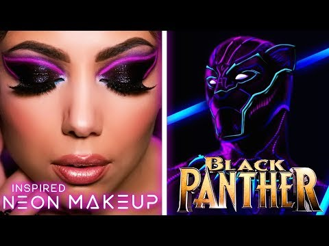 BLACK PANTHER Inspired NEON Makeup Tutorial! | Charisma Star