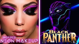 BLACK PANTHER Inspired NEON Makeup Tutorial! | Charisma Star
