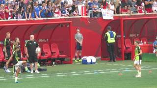 Kelley O'Hara and Tobin Heath juggling skills / WWC 2015 USWNT vs AUS