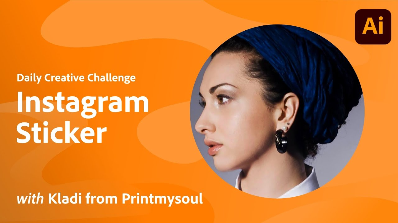 Illustrator Daily Creative Challenge - Instagram Sticker