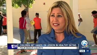 Children get hands on lesson in healthy eating