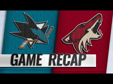 Fischer, Crouse propel Coyotes past Sharks, 6-3
