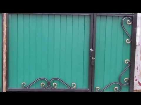 Ворота со встроенной калиткой Летние-2