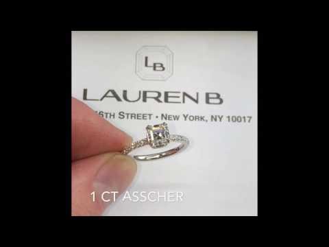 1 ct Asscher Diamond Engagement Ring