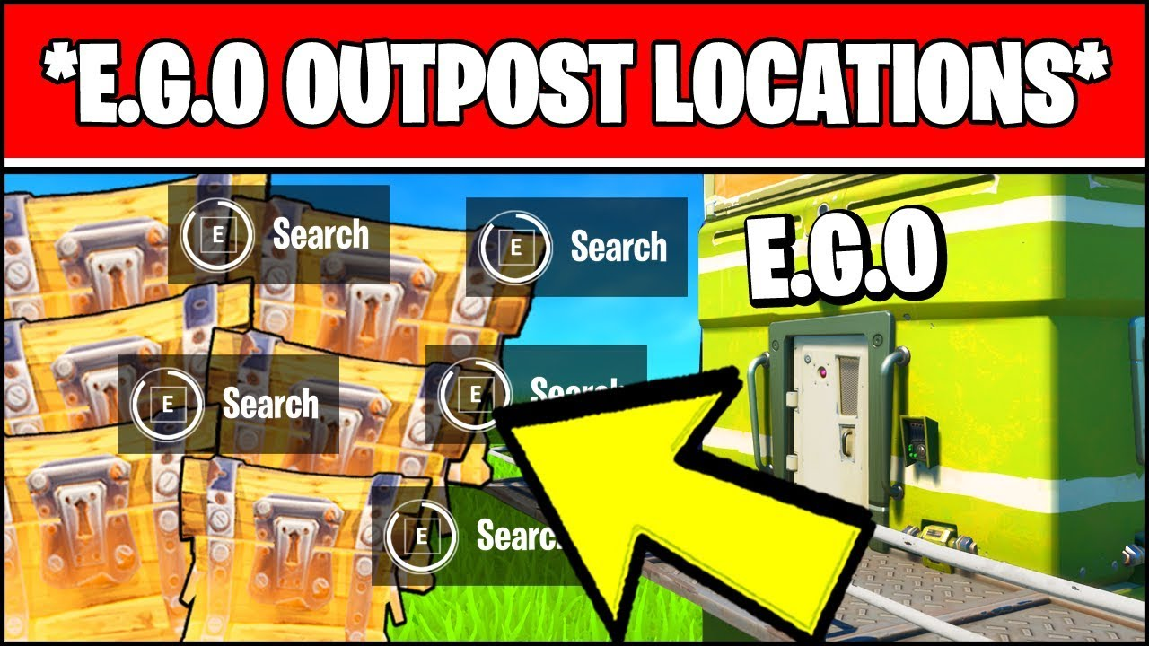 E G O Outpost Locations Search Chests At Ego Outposts Visit Different Fortnite Week 4