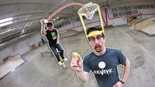 Crazy Basket Headband Trick Shot Challenge!