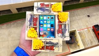 Can Spring Loaded Mouse Traps Protect iPhone SE from 100 FT Drop Test?