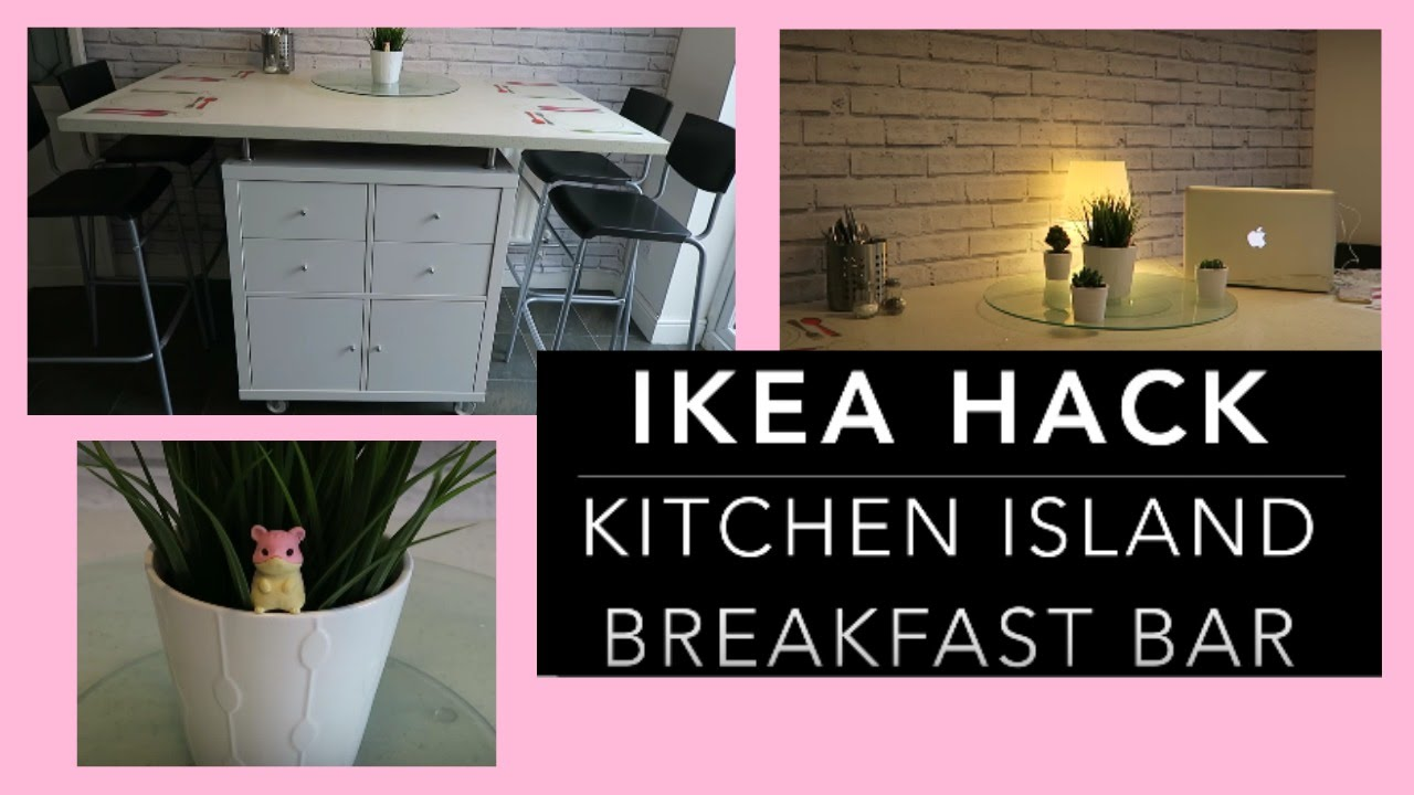 Ikea Hack Diy Kitchen Island Breakfast Bar Storage Unit Youtube