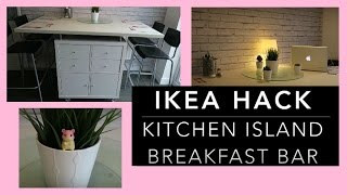 IKEA HACK - DIY Kitchen Island Breakfast Bar Donna Dyble