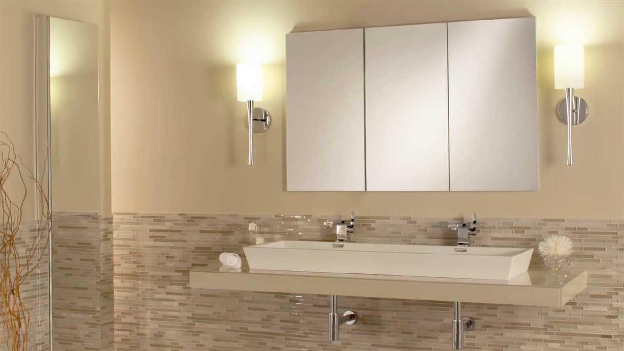 Tri View Mirrored Cabinets