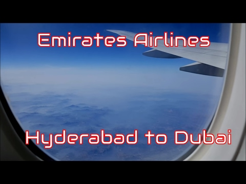 EMIRATES AIRLINE Economy Class ✈ Hyderabad to Dubai EK527 ✈ Full Flight Experience ✈