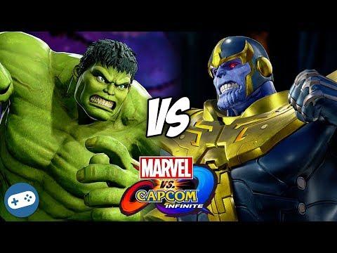 Hulk VS Thanos Marvel vs Capcom Infinite Gameplay