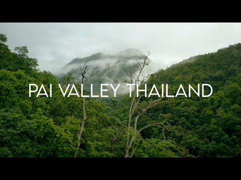 Pai Valley Thailand in 4k | Aerial footage