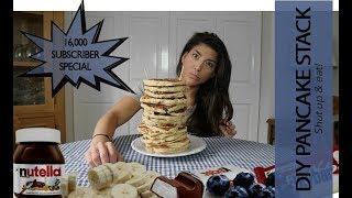EPIC CHEAT 11,000 Calorie Pancake Stack Challenge, Girl Vs Food