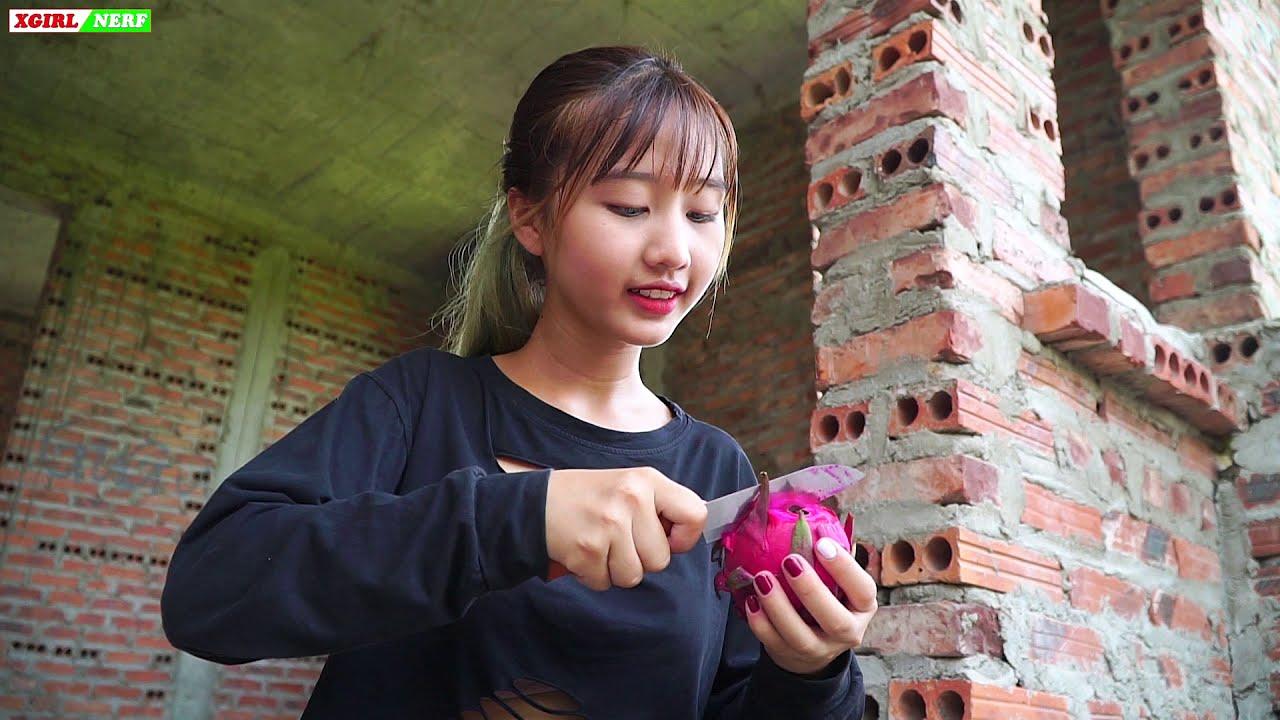 XGirl Nerf War Cherry Trap In Dragon Fruit ! SEAL X Girl Nerf Guns Criminal Alibaba Vigilance Lesson