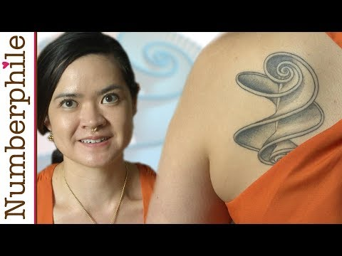 The Girl with the Hyperbolic Helicoid Tattoo - Numberphile