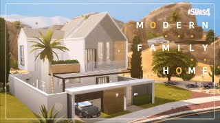 Modern Family Home | NO CC | Sims 4 stop motion build