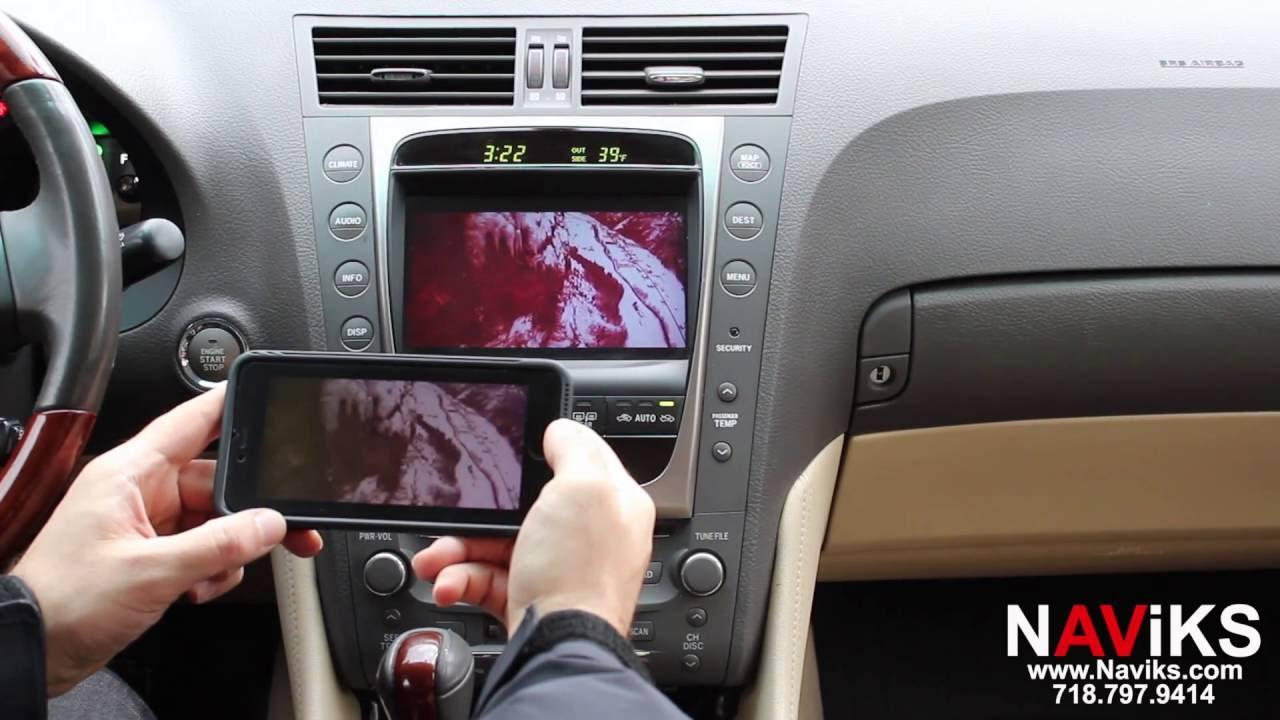 2007 Lexus GS 350 NAViKS Video Integration Interface Add