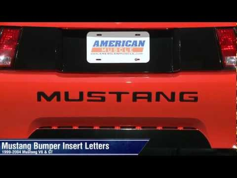 Chrome 94-98 Mustang Bumper Inserts Letters Vinyl