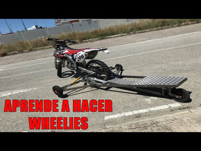 PLATAFORMA para WHEELIES. Aprendiendo a hacer caballitos *WHEELIE MACHINE*