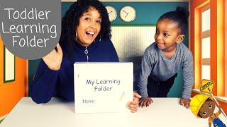 Toddler Interactive Learning Folder School Readiness Worksheets For Child Printables Preschool Prep